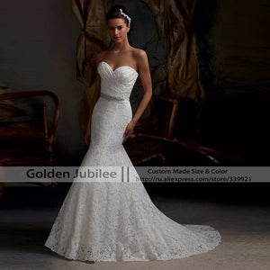 Hot Sale Elegant Sweetheart Ivory White Lace Mermaid Wedding Dresses 2016 Back Lace Up Real Photo Cheap vestido de noiva - Shopatronics - One Stop Shop. Find the Best Selling Products Online Today