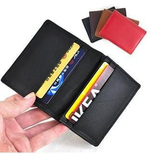 Hot Selling Unisex 100% first layer genuine cow leather name business card holder bank credit cards wallet bag,gifts,JG3168 - Shopatronics