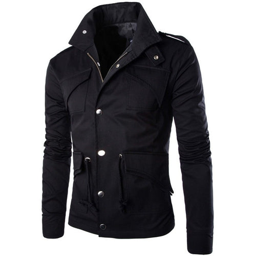 Hot high quality men's jacket fashion elegant coat Sexy Top Designed slim fit casual jacket men plus size M~4XL - Shopatronics