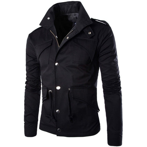 2016 Hot high quality men's jacket fashion elegant coat Sexy Top Designed slim fit casual jacket men plus size M~4XL - Shopatronics - One Stop Shop. Find the Best Selling Products Online Today