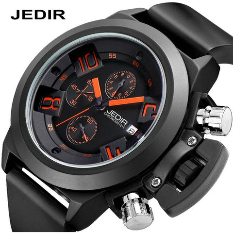 2016 JEDIR Brand Military Watch Waterproof 30 Meters Silicone Band Quartz Watch Men's Fashion Sports Watches - Shopatronics - One Stop Shop. Find the Best Selling Products Online Today