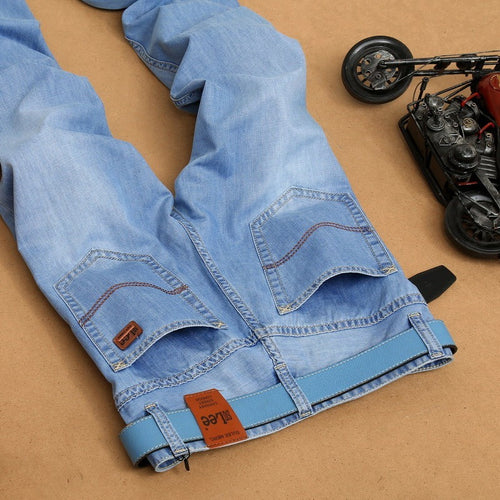 Men's jeans Fashion Brand Jeans Large sales Spring summer Jeans Fashion Slim Jeans Thin tight new blue dress men's 8830 - Shopatronics