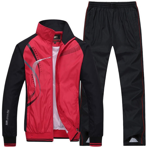 New 6 Colors Men Sportwear Suit Outdoor Autumn Spring Sweatshirt Men Tracksuit Size L-4XL - Shopatronics