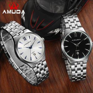 New Amuda 2010 Watches Men Luxury Brand Hot Design Military Sports Wrist Watches Lover Quartz Woman Full Steel Watch - Shopatronics