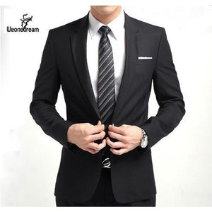 New Arrival Fashion Brand Men Slim Fit Suits Man Business Formal Suit with Pants Tuxedo Bridegroom Wedding Suits for Men - Shopatronics