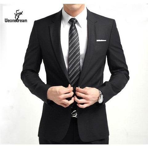 2016 New Arrival Fashion Brand Men Slim Fit Suits Man Business Formal Suit with Pants Tuxedo Bridegroom Wedding Suits for Men - Shopatronics - One Stop Shop. Find the Best Selling Products Online Today