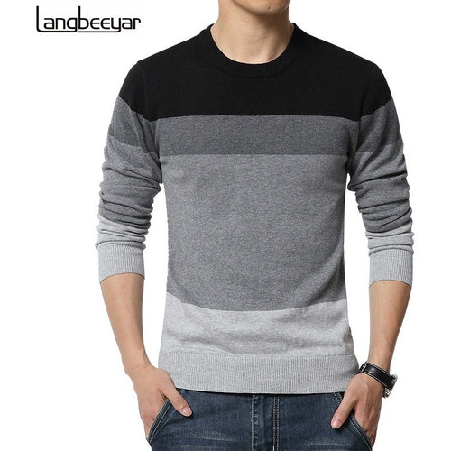 Men O-Neck Striped Slim Fit Knitting Sweater Pullovers 5XL - Shopatronics - One Stop Shop. Find the Best Selling Products Online Today