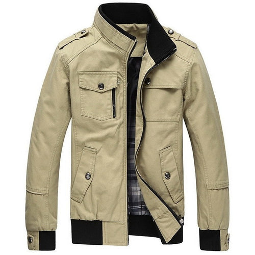 New Autumn & Winter  Men's Cotton Jackets Stand Collar Mens Jackets Fashion Casual Outerwear for Men Plus Size 3XL, CA114 - Shopatronics
