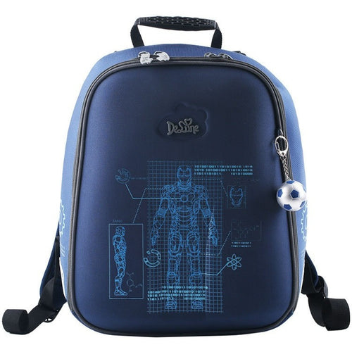 New Boys Cartoon Schoolbags Black Gray Man Print Children's School Portfolio Backpacks Orthopedic Satchel Mochila Menino - Shopatronics