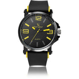 New Fashion V6 Brand Men's Sport Watch Quartz Watches Alloy Round Silicone Strap Fitness Wristwatches - Shopatronics