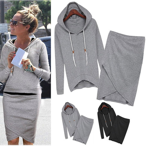 2016 New Fashion Women Sport Suits Leisure Sweatshirts Spring Autumn Casual Tracksuit Top And Skirt 2 Piece SV004932 - Shopatronics - One Stop Shop. Find the Best Selling Products Online Today