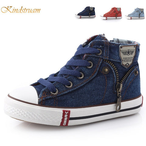 2016 New Kids Classic Canvas Shoes Children Casual Jeans Plimsolls Spring & Autumn Student Boys & Girls Boots 8-18 Ages, HJ040 - Shopatronics - One Stop Shop. Find the Best Selling Products Online Today