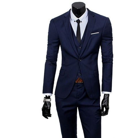 2016 New Men Suits One-Buckle Brand Suits Jacket Formal Dress Men Suit Set Men Wedding Suits Groom Tuxedos (Jacket+Pants+Vest) - Shopatronics - One Stop Shop. Find the Best Selling Products Online Today