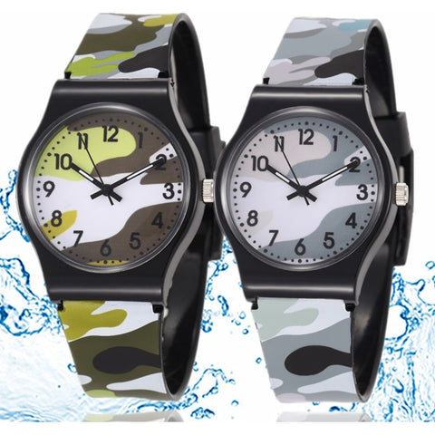 Waterproof Cool Military Camouflage Children Watch Fashion Cartoon Quartz Watches for Girl Boy Kids Child Gift Relogio - Shopatronics