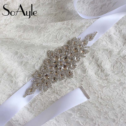 Wedding Accessories Discount  Real Picture Amazing Crystal Beads Shinny Cheap Promotion Charming Bridal Belt Women Sashes - Shopatronics