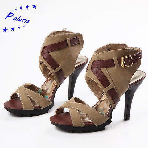 2016 Women Sandals Plus Size 34-43 New Fashion Summer Buckle Strap High Heel Pumps Platform Woman Shoes Black Brown SS662 - Shopatronics - One Stop Shop. Find the Best Selling Products Online Today