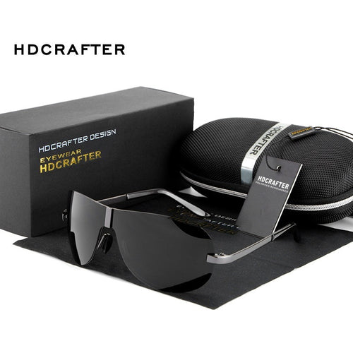 Hot sale Men High Quality Polarized Brand Driving  Sunglasses sun glasses UV 400 Fashion Eye Wear with Box - Shopatronics
