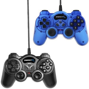 Sabrent 12 Button Programmable USB 2.0 Game Controller For PC - 2 Pack - Shopatronics