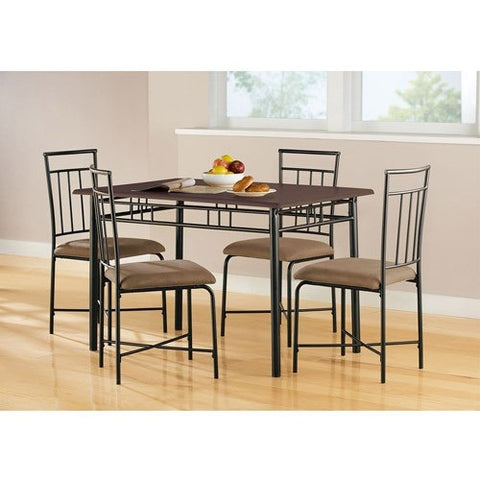 Mainstays 5-Piece Wood and Metal Dining Set, Multiple Colors - Shopatronics - One Stop Shop. Find the Best Selling Products Online Today