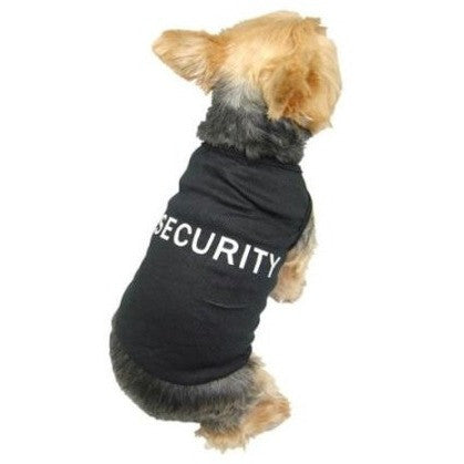 Black Pet Dog Puppy Security Cotton T Shirt Tank Top Tee Clothes Apparel - Small - Shopatronics - One Stop Shop. Find the Best Selling Products Online Today