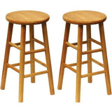 "Beech Wood Counter Stools 24"", Set of 2, Natural - Shopatronics - One Stop Shop. Find the Best Selling Products Online Today"