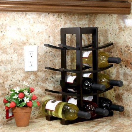 Oceanstar 12-Bottle Dark Espresso Bamboo Wine Rack WR1132 - Shopatronics - One Stop Shop. Find the Best Selling Products Online Today