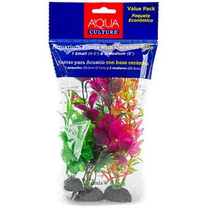 Aqua Culture Aquarium Plants with Ceramic Base, 3 count - Shopatronics - One Stop Shop. Find the Best Selling Products Online Today
