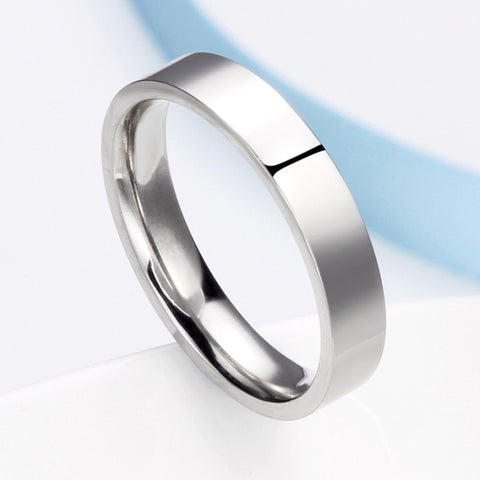 316L stainless steel silver Women 4mm 6mm Male couple rings, fashion high quality stainless steel wedding rings - Shopatronics - One Stop Shop. Find the Best Selling Products Online Today