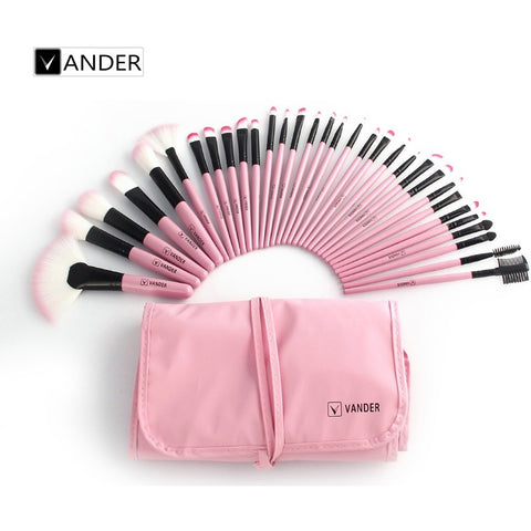 32 PCS/ Set Professional Beauty Makeup Brushes Set Tools Foundation Blush Eye Shadow Powder Make Up Brush Toiletry Kit Case - Shopatronics - One Stop Shop. Find the Best Selling Products Online Today