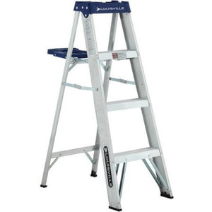Louisville Ladder 4' Aluminum Ladder - Shopatronics