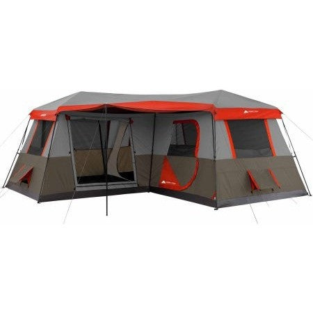 Ozark Trail 12 Person 3 Room L-Shaped Instant Cabin Tent - Shopatronics