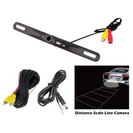 Pyle PLCM18BC License Plate Camera with Distance Scale Line - Shopatronics
