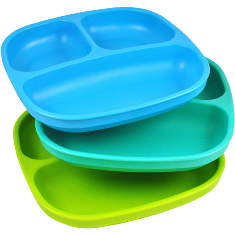 Re-Play 3-Pack Divided Plates, BPA-Free - Shopatronics