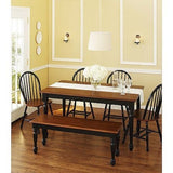 Better Homes and Gardens Autumn Lane Farmhouse Bench, Black and Oak - Shopatronics - One Stop Shop. Find the Best Selling Products Online Today