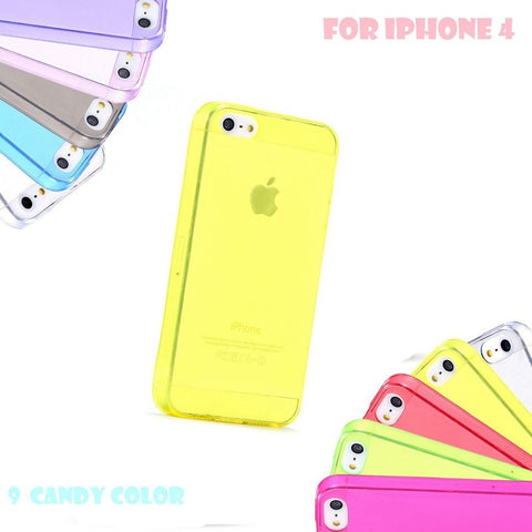 4s Super Soft Transparent Case Accessories For Apple iPhone4 Ultra Slim TPU Silicone Gel Cell Phone Back Cover For iPhone 4 - Shopatronics - One Stop Shop. Find the Best Selling Products Online Today