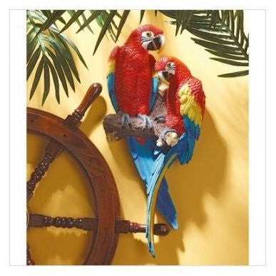 Design Toscano Tropical Scarlet Macaws Wall Decor - Shopatronics - One Stop Shop. Find the Best Selling Products Online Today