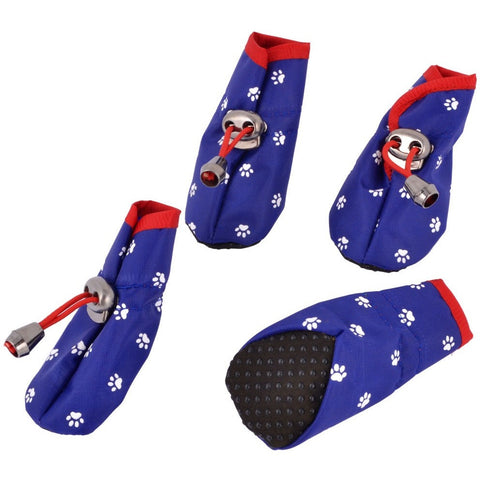 Free Shipping 2 Pairs Walking Running Paw Print Pet Dog Puppy Cat Booties Shoes Blue XXS - Shopatronics - One Stop Shop. Find the Best Selling Products Online Today