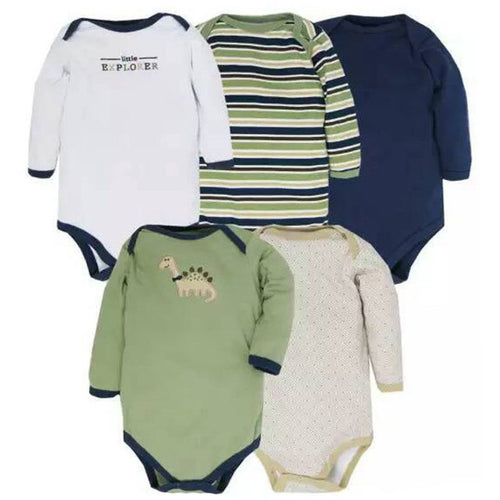 5pcs/ lot New Styles Baby Rompers Long Sleeves Newborn Baby Clothes - Shopatronics