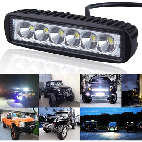 6 inch Mini 18W LED Light Bar 12V 24V Motorcycle LED Bar Offroad 4x4 ATV Daytime Running Lights Truck Tractor Warning Work Light - Shopatronics - One Stop Shop. Find the Best Selling Products Online Today