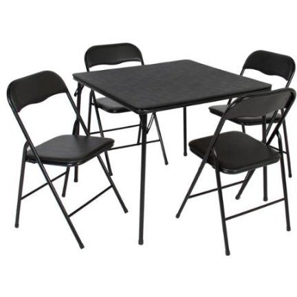 5PC Folding Table U0026 Chairs Card Poker Game Parties Portable Furniture  Dining Set   Shopatronics