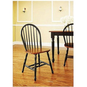 Better Homes and Gardens Autumn Lane Windsor Chairs, Set of 2, Black and Oak - Shopatronics - One Stop Shop. Find the Best Selling Products Online Today