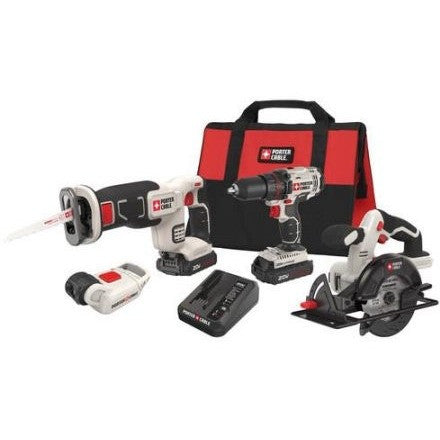 Porter-Cable PCCK616L4 20V Max Cordless Lithium-Ion 4-Tool Combo Kit - Shopatronics - One Stop Shop. Find the Best Selling Products Online Today