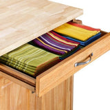 Mainstays Kitchen Island Cart, Multiple Finishes - Shopatronics