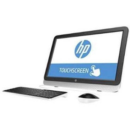 "Refurbished HP Natural Silver 22-3120 All-in-One Desktop PC with AMD Quad-Core A6-6310 Accelerated Processor, 4GB Memory, 21.5"" Touchscreen, 1TB Hard Drive and Windows 10 Home - Shopatronics"