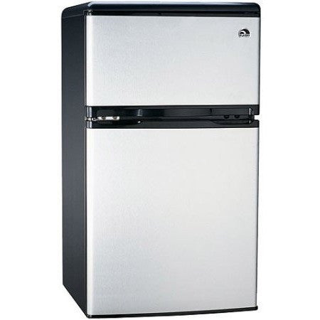 Igloo 3.2 cu. ft. 2-Door Refrigerator and Freezer, Stainless Steel - Shopatronics