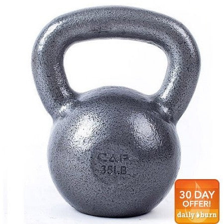 CAP Barbell Cast Iron Kettlebell, Grey (25lbs - 35lbs) - Shopatronics - One Stop Shop. Find the Best Selling Products Online Today