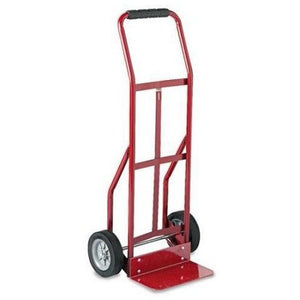 Safco Two-Wheel Red Steel Hand Truck, 300lb Capacity - Shopatronics