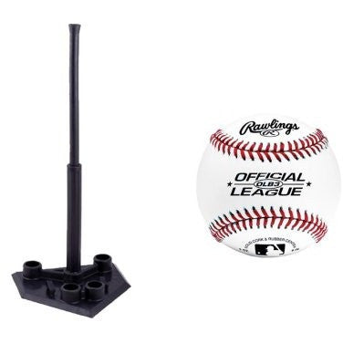 Champion Sports 5-Position Portable Batting Tee w/ Rawlings OLB3 Official League Recreational Play Baseball - Shopatronics - One Stop Shop. Find the Best Selling Products Online Today