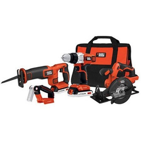 Black and Decker 20V Drill, Circ, Recip and Light Kit, BDCD2204KIT - Shopatronics - One Stop Shop. Find the Best Selling Products Online Today