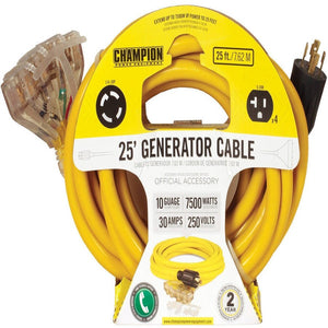 Champion Power Equipment Model 48036, 25 ft. Portable Generator Cords 240V - Shopatronics - One Stop Shop. Find the Best Selling Products Online Today